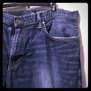 Gap Men's Relaxed Jeans dark wash 1969 40x30 EUC